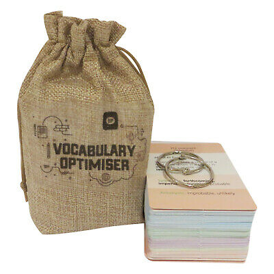 11 Plus Vocabulary Flash Cards with Wallet for Eleven Plus Flash Cards, FREE App