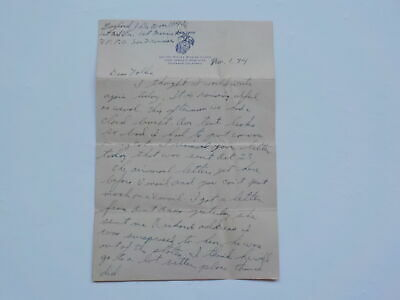 WWII Letter 1944 Missed Peleliu Fight 1st Marines Division War WW2 USMC