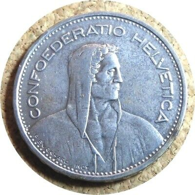 elf Switzerland 5 Francs 1933 B  Silver  William Tell