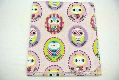 """Baby Blanket Owls Cameos Can Be Personalized 36x40"""""""