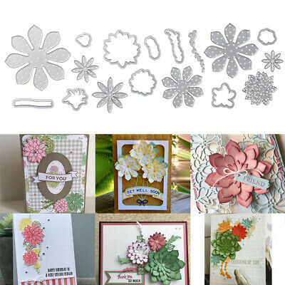 Embossing Metal Cutting Dies DIY Template Blossom Flower 3D Stamp Crafts Stencil