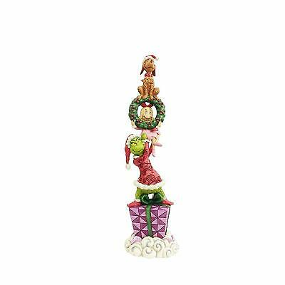Jim Shore The Grinch With Stacked Characters Christmas Figurine 6002066 New