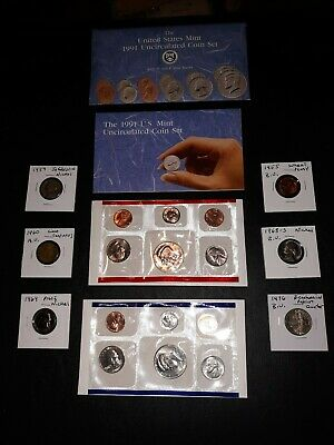 US COIN LOT Collection 1991 MINT SET vintage 1964 Proof BU 1976 Q no junk drawer