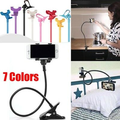 Flexible Long Arms Lazy Bed Stand Clip Holder For Mobile Phone Tablet Desktop #