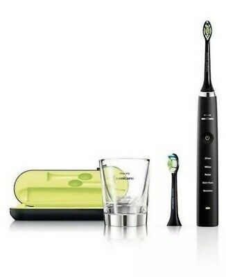 PHILIPS Sonicare Diamond Clean Toothbrush HX9350. Black With Brand New Heads