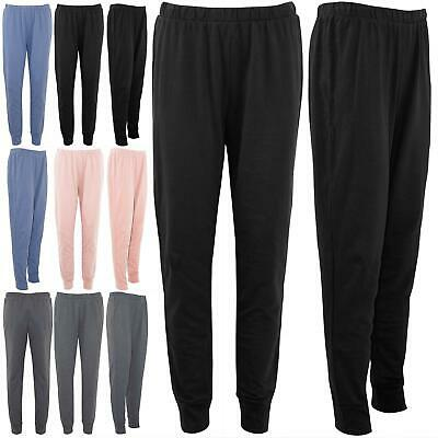 Womens Elasticated Waist Ladies Cuffed Trouser Gym Jogger Fleece Jogging Bottoms