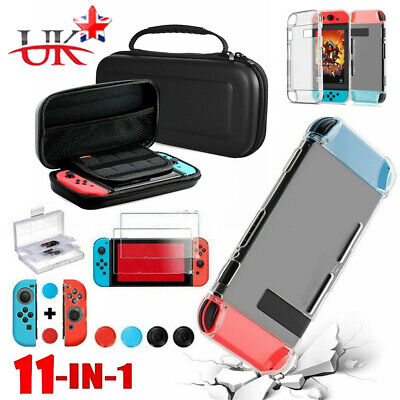 UK for Nintendo Switch Case Bag+Shell Cover+Charging Cable+Protector Accessories