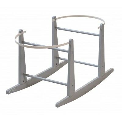 Rocking Moses Basket Stand to Fit the Shnuggle - Grey