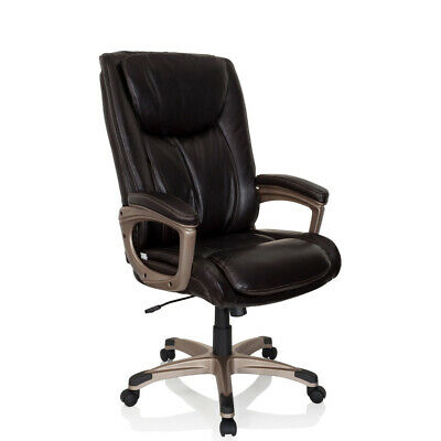 Executive Chair Brown Office Chair extra Thick PU Leather TRITON 700 hjh OFFICE