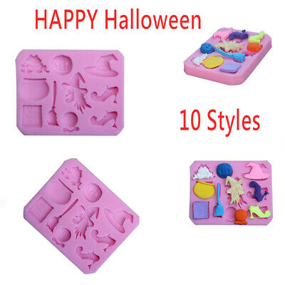 Halloween Silicone Mold Biscuits Cake Cookie Chocolate Kitchen Baking Mould AU