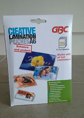 Creative Lamination Pouches A6 Pack 25 ~ New