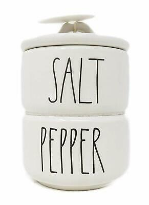Rae Dunn Salt And Pepper Stacked Stackable Containers Canisters Cellars New