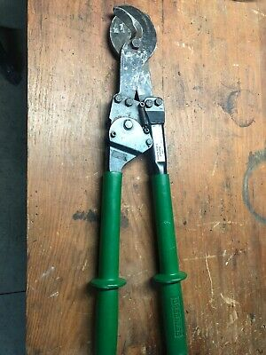 Greenlee 756 Ratchet Cable Cutter Sharp No Chips
