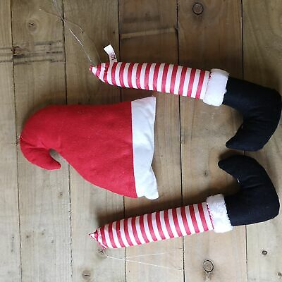 Elves Behavin' Badly Elf Legs And Hat For Christmas Tree Wreath