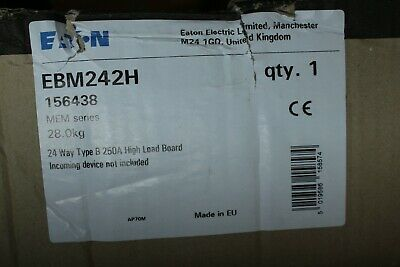 Eaton 24 Way 250 Amp Tpn High Load Distribution Board Ebm242H