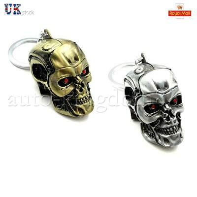 Skull Heads Keychain The Terminator Metal Collectible Gift Pendant Key Ring