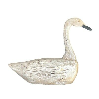 Vintage Carved Wood Swan Decoy