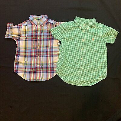 2x GUC Ralph Lauren Polo Boys Size 4/4T Short Sleeve Shirts