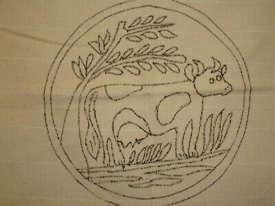Rug Hooking Pattern, Monks Cloth, Christmas 98, Cow, New