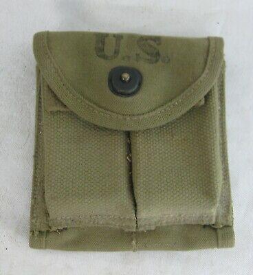 Original WWII M1 CARBINE Double AMMO POUCH Hoff 1943