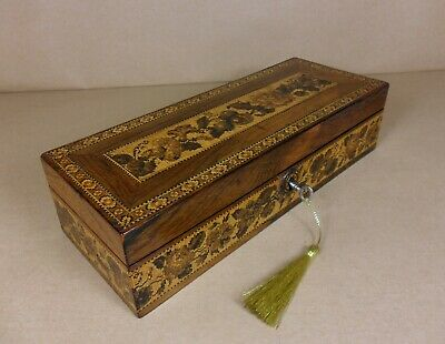 ANTIQUE VICTORIAN MICRO-MOSAIC TUNBRIDGE WARE  BOX. C1860-1870 (Code 520)