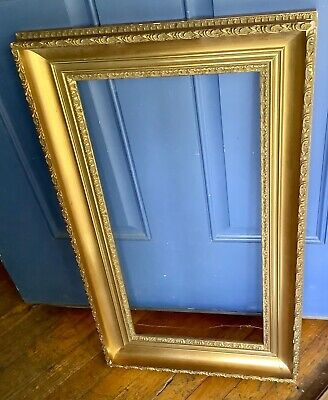 Vintage Rococo Baroque Gold Gilt Wood & Gesso Picture Frame wooden ornate