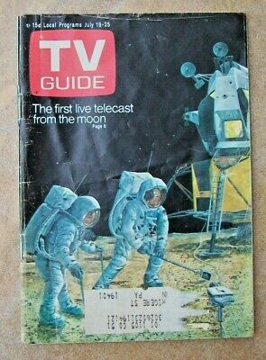 July 19, 1969 TV GUIDE Magazine First Moon Landing Paul Lynde Article