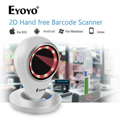 Eyoyo EY-6500 2D Desktop Barcode Scanner USB Handsfree Reader for Android Store