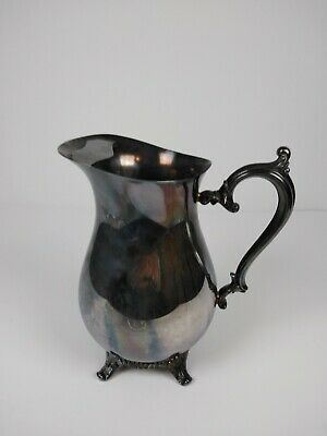 Vintage Signed Wm Rogers 817 Silver Water Pitcher