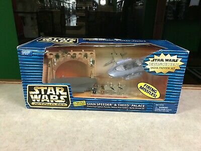 1999 Micro Machines Star Wars GIAN SPEEDER THEED PALACE Set NIB