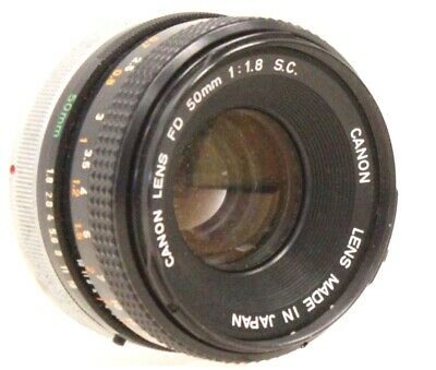 CANON 50mm f/1.8 S.C FD Mount Prime Camera Lens  - D31
