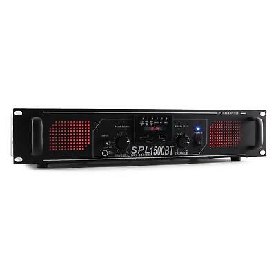 Skytec Spl 1500Btmp3 Amplificatore Bluetooth 1500W Usb Sd Rca Aux Am/Fm Rack 19""