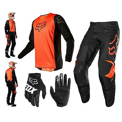 FOX 180 Prix Combo orange MX Enduro Hose Cross Shirt Motocross Handschuhe