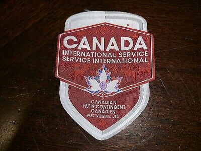 2019 24th World Scout Jamboree Canada/Canadian/Canadien IST Contingent Patch