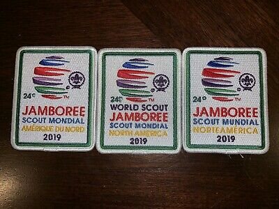 2019 24th World Scout Jamboree Host Country Pocket Patch Set of Three (3)
