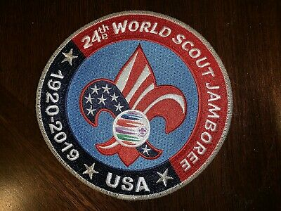 BSA, 2019 24th World Scout Jamboree USA Contingent Jacket (or Back) Patch