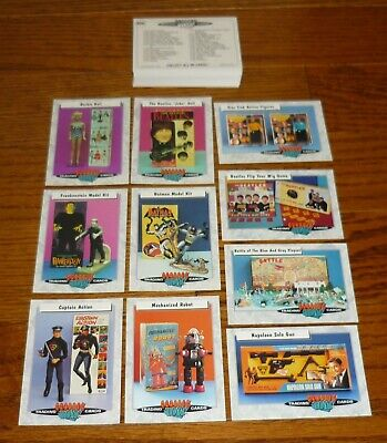 Complete set of 66 Classic Toys Trading Cards, The Beatles, Hogan's Heroes, +++