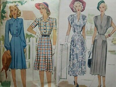 1940's Bust 38 LOT of Vintage Sewing Patterns 1940s McCalls Simplicity Butterick