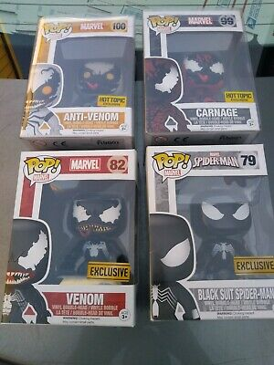 spider man, carnage, venom funko pop lot