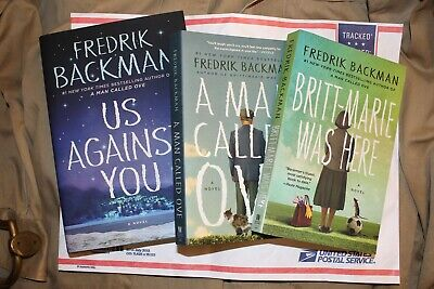 Lot 3 Fredrik Backman Books Britt Marie was here A Man called OVE Us Against You