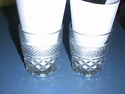 WEXFORD Glass On-the-Rocks, Old Fashion, Drink Tumblers Bar Set of 2 - MINT!