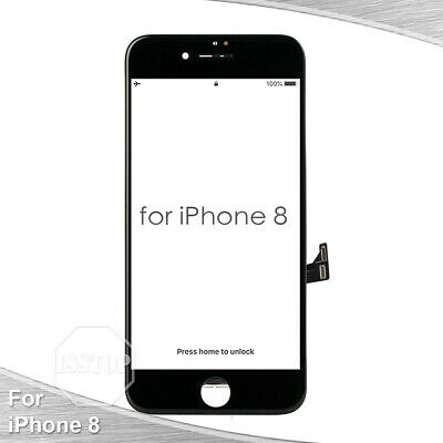 Black iPhone 8 LCD Display Touch Screen Digitizer Frame Replacement A1863 A1905