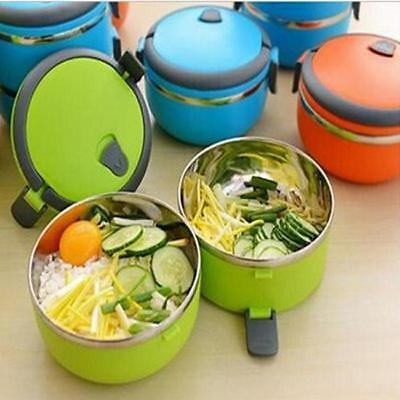 1 Layer Thermal Insulated Thermos Lunch Box Portable Picnic School Bento Food GG