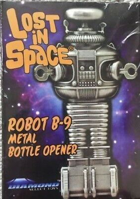 MIB new Diamond Select Toys Lost In Space B-9 Robot Metal Bottle Opener