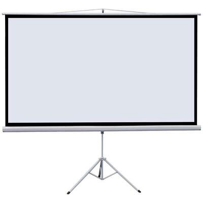 Portable Foldable Projector Screen Motorized Manual Tripod Home Movie Outdoor HD