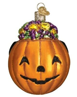 Old World Christmas Trick or Treat Pumpkin Halloween Ornament 26083 FREE BOX New