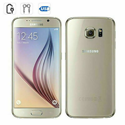 Samsung Galaxy S6 G920F Unlocked New Sealed LTE 4G Mobile 32GB Smart Phone Gold