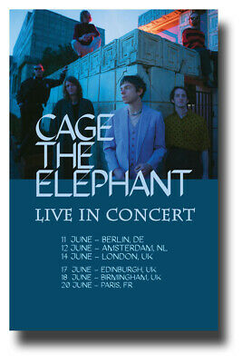 """Cage The Elephant Poster - 2019 Tour 11""""X17"""" Social Cues SHIPS SAMEDAY FROM USA"""