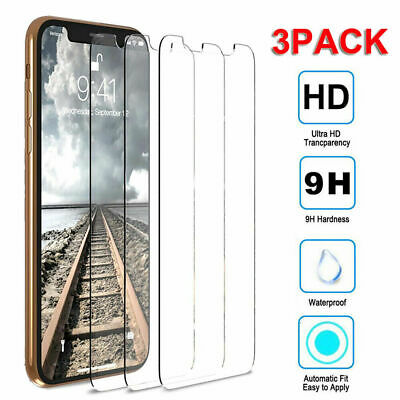 For iPhone 11 Pro MAX/X XS XR 9H HD Tempered Glass Screen Film Protector[3 Pack]