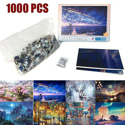 1000 Piece Jigsaw Mini Puzzles Games Landscapes Cities Gifts Kids Toys 8 Pattern
